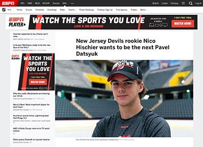 ESPN. New Jersey Devils rookie Nico Hischier wants to be the next Pavel  Datsyuk dfa954394